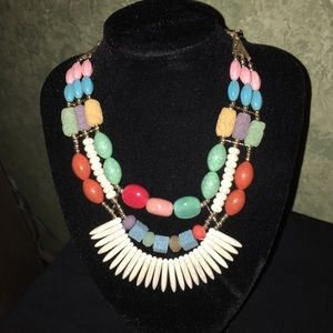 Jewelry - Ceramic Mix Beads Statement Necklace & Earrings